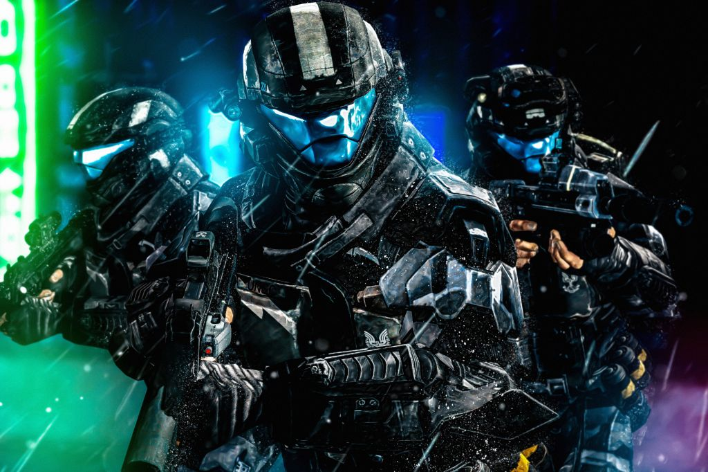 Halo 3: Odst, Squad, Soldiers, Armor, HD, 2K